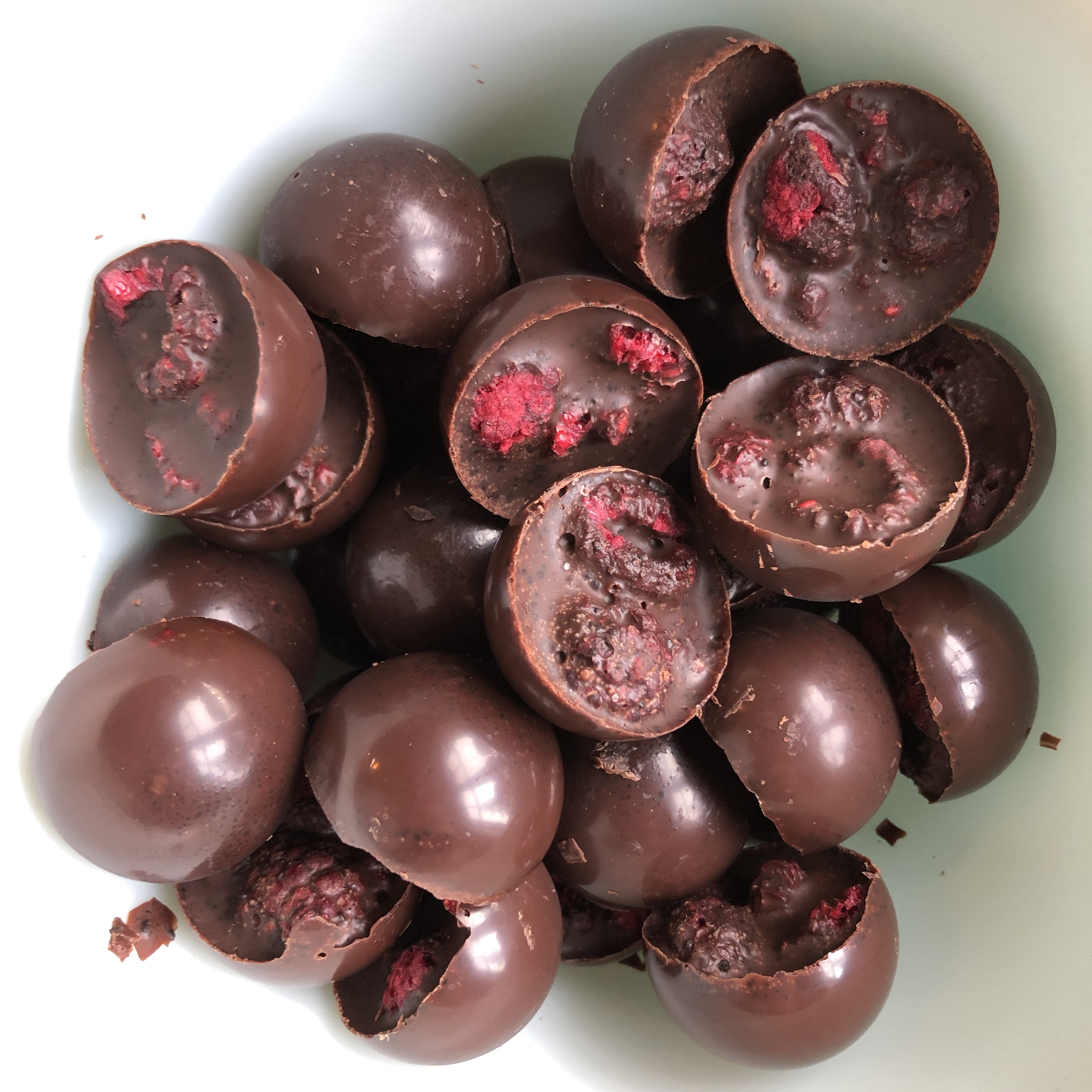 Semi-Sweet Paleo Chocolates with Raspberries