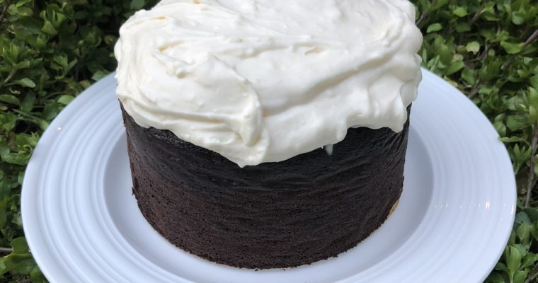 Guinness Cake for St. Patrick's Day (grain free flours, no sugar)