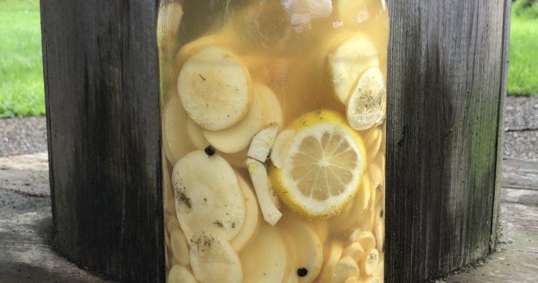 Fermented Parsnips with Lemon, Ginger & Peppercorns (vegan, paleo, keto)