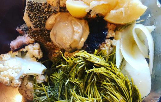 Cultured Cauliflower Fir Tip Hummus (Keto, Vegan)