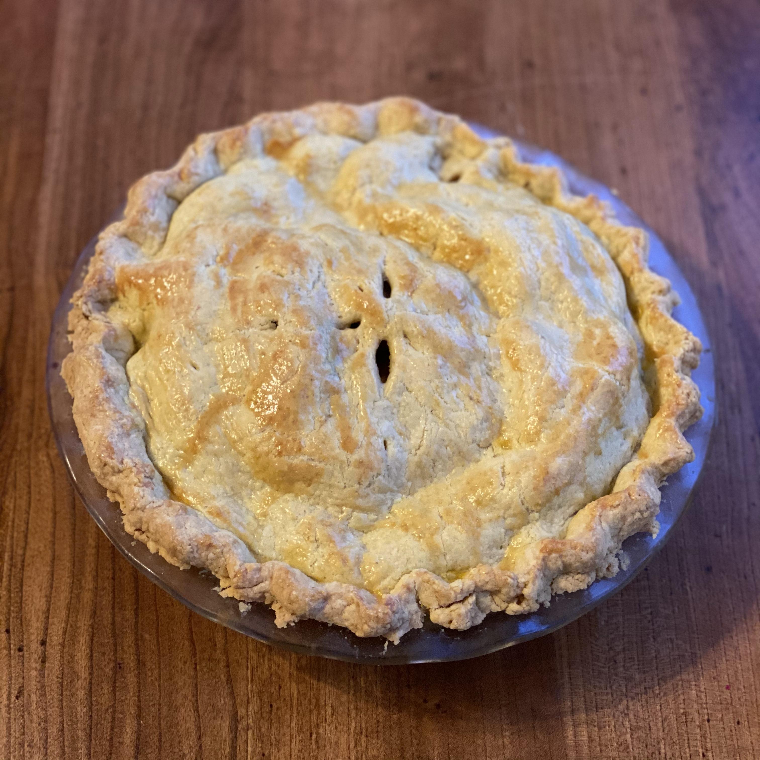 Einkorn Apple Pie (No Sugar)