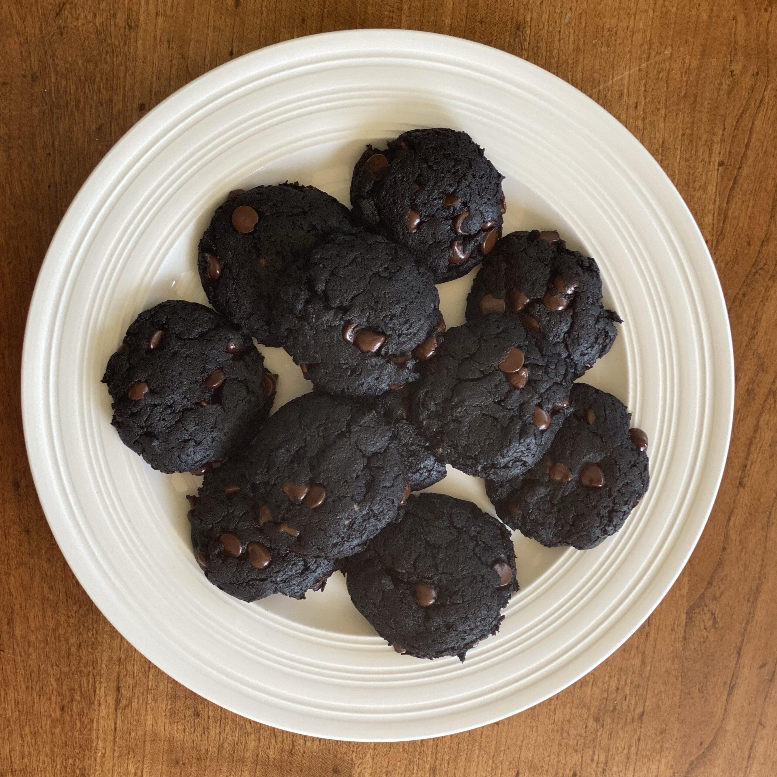Malted Maca Black Tahini Cookies (vegan)
