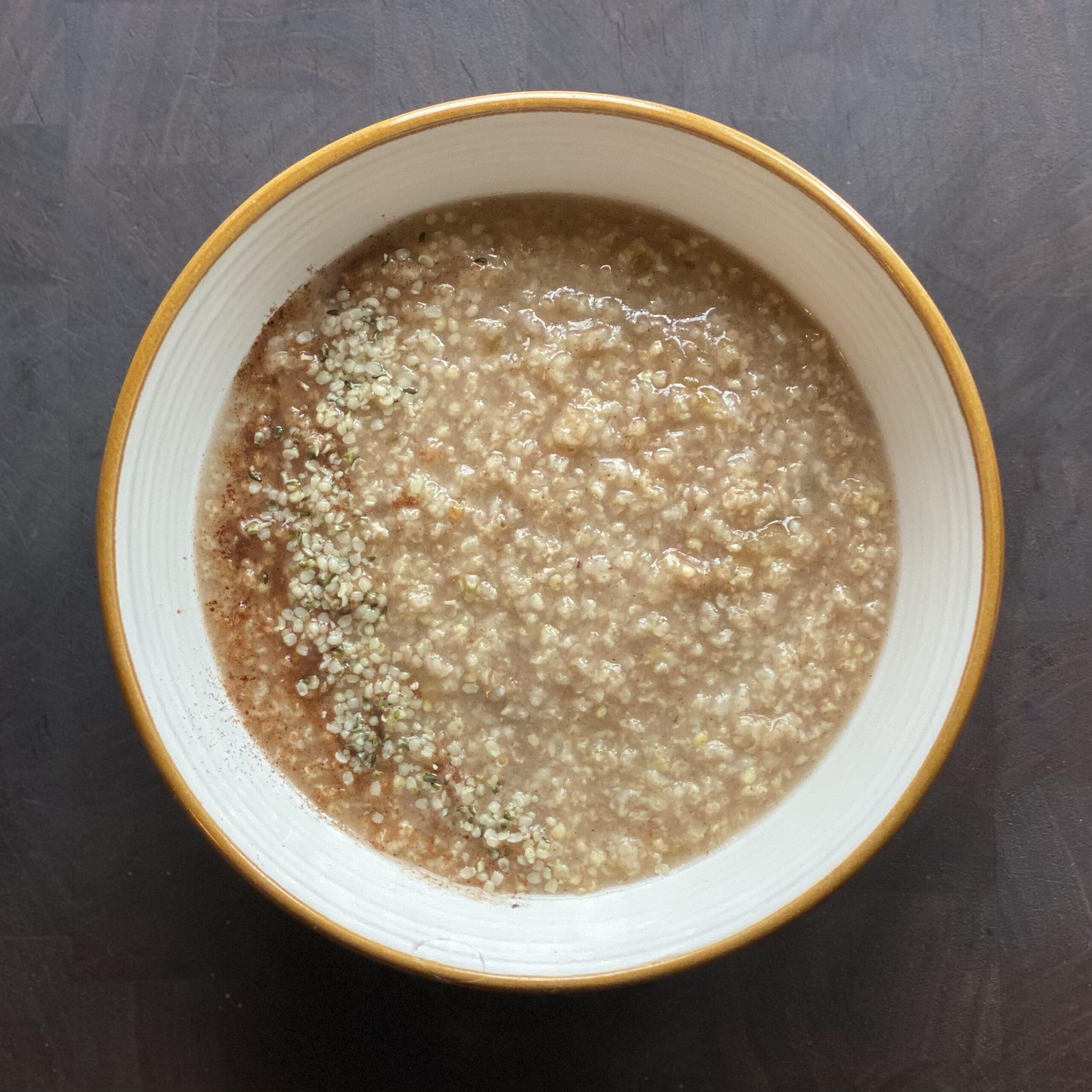 Overnight Millet Porridge (Millet Congee)
